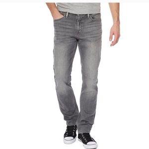 LEVI'S slim fit 511 skinny faded gray denim jeans